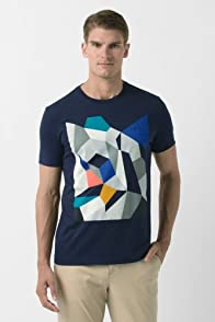 Short Sleeve Geometric Print Jersey T-Shirt