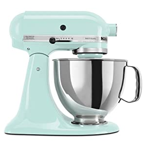 KitchenAid KSM150PSIC Artisan 5-Quart Stand Mixer, Ice Blue