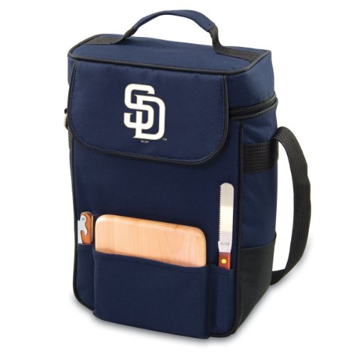 Mlb San Diego Padres Duet Insulated 2-Bottle Wine And Cheese Tote