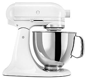 KitchenAid KSM150PSWW 5-Qt. Artisan Series with Pouring Shield - White on White