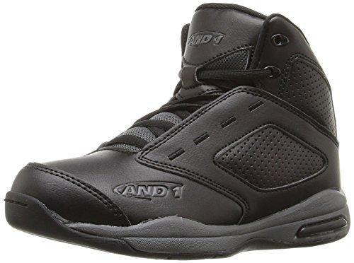 AND 1 Kids' Typhoon AU Skate Shoe, Black/Black/Gunmetal, 6.5 M US Big Kid
