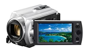 Sony DCR-SR15ES SD Camcorder (80-GB-Festplatte, 50-fach opt. Zoom, 7,6 cm (2,7 Zoll) Display) silber