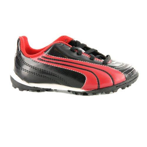 Puma V6.10 Astro Turf Schwarz Jungen Fußball-Schuhe Sneaker