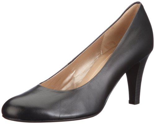 Gabor Women's Lavender Leather Black Platforms Heels 45.210.37 6.5 UK