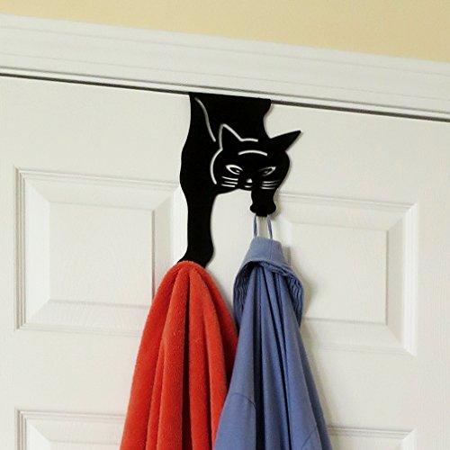 Over The Door Cat Double Hook Hanger For Home, Office & Closet Storage, Black (Over The Door Double Hook Black compare prices)