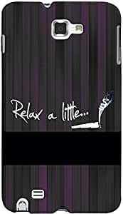 PRINTVISA Quotes Attitude Relax Case Cover For Samsung Galaxy Note 1