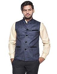 Vishal Men Royal Blue Nehru Jacket