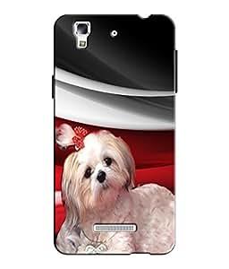 EU4IA CUTE DOG MATTE FINISH 3D MATTE FINISH Back Cover Case For MICROMAX YU Y...