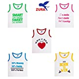 #9: Zura's Export Quality Cotton Boy Baby Tshirt / Girl Baby Tshirt / Baby dress / Kids Tshirt / Baby Teeshirt (Pack of 5)