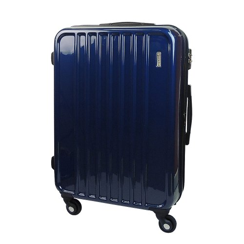 【 President 】スーツケース 超軽量キャリーケース TSAロック搭載 【PJボックスファスナー2013】3年保証 13COLOR 3サイズ【大型、ジャスト型、中型】 (ジャスト型 Jサイズ 82リットル, プレミアブルー)
