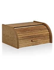 Oak Slatted Bread Bin