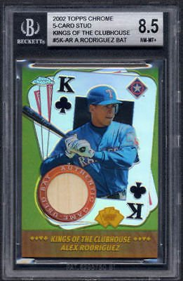 Topps Chrome Alex Rodriguez Kings 5Cardstud Bat Bgs 8.5