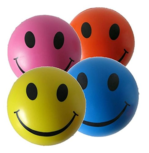 4-x-Stress-Ball-Mixed-Colour-by-StressCHECK-Sensory-Toys-Yellow-Pink-Blue-and-Orange-Squeezy-Balls-Stress-Balls-for-ADHD-and-Autism