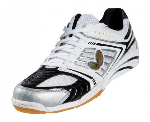 Tennis De Table Fr Butterfly Chaussures Energyforce Viii Mixte Blanc Noir Argent 37