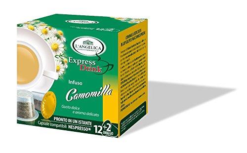 L'Angelica - Camomilla, Capsule Compatibili con il Sistema Nespresso - 2 confezioni da 14 capsule [28 capsule, 220 g]