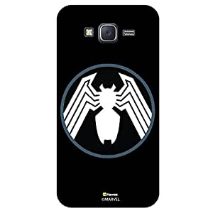 Hamee Marvel Samsung Galaxy On7 Case Cover Spider Logo In Black And Circle Black White