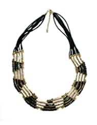Chic Collection Tribal Black Seed Bead Necklace For Women