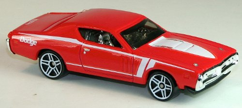 Hot Wheels - '71 Dodge Charger (Red) - Muscle Mania, Mopar 12 - 5/10 ~ 85/247 [Scale 1:64]