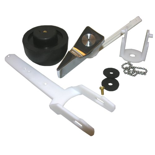 Lasco 04 1599 Toilet Flapper Complete Flush Valve Assembly Kit With Flush Lev