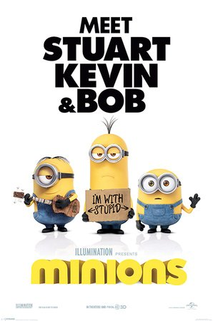 Minions Poster Pack I'm With Stupid 61 x 91 cm (5) Pyramid International