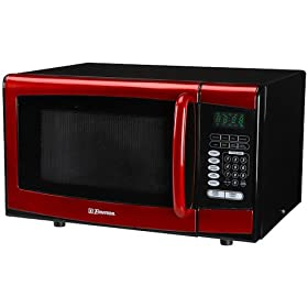 Emerson 900-Watt Microwave Oven - Red