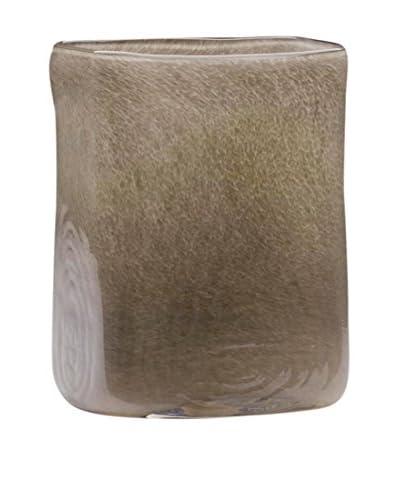 Dynasty Gallery Glass Rectangular Vase, Grey