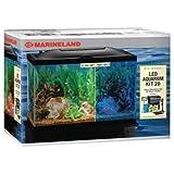 Marineland (Aquaria) AMLPFK20B Biowheel Aquarium Kit with LED Light, 20-Gallon