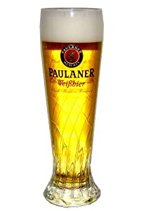Paulaner Weissbier Wheat Beer 22 Ounce Glass | Set of 2 Glasses by Paulaner Munchen