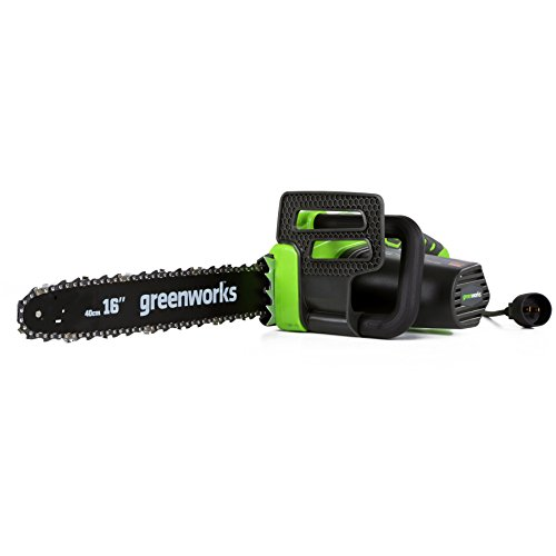 GreenWorks 20232 Corded 12-Amp Chainsaw, 16-Inch