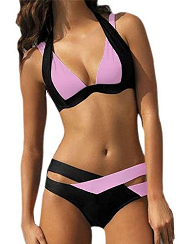 Ninimour Donna Costumi da Bagno Benda Cut Swimwear Bikini Set