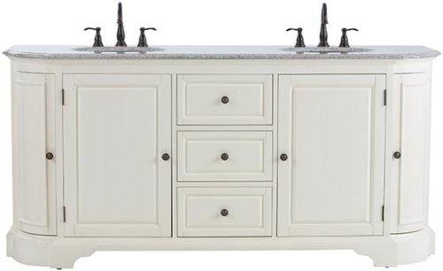 Superb Davenport Double Bath Vanity Hx Wx D DISTRESSED WHITE