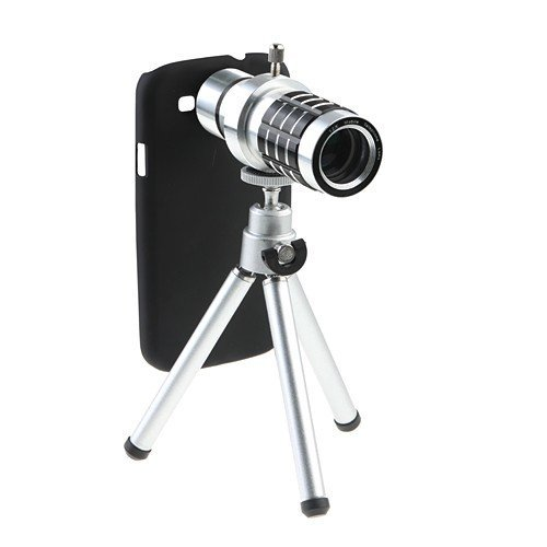 Bw 12X Zoom Telescope Camera Lens Case Cover For Samsung Galaxy S3 I9300