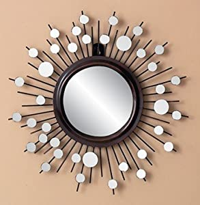 Large Sun Burst Metal Mirror Wall Decor 16