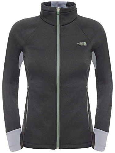 North Face-Felpa da donna con Zip intera UE Attitude-Giacca in pile, da uomo, colore: grigio chiaro/grigio scuro, taglia: XL