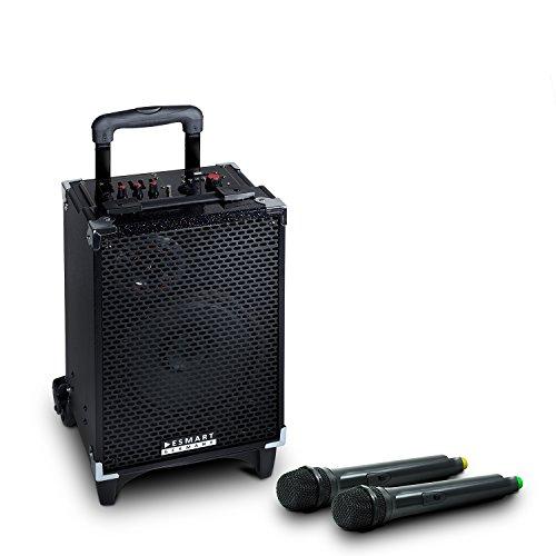 eSmart-Germany-Hayato-mobiler-DJ-Lautsprecher-Mikrofon-Radio-MP3-Bluetooth-USB-SD-Aux
