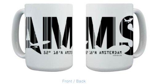 Amsterdam Airport Code AMS Netherlands Mug