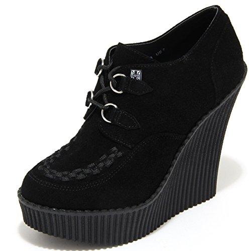 1173M tronchetti donna neri T.U.K. SHOES pelle ecopelle scarpe women [39 EU-6 UK]