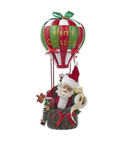Kurt Adler 15 Musical Santa Hot Air Balloon