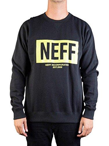 NEFF New World Crew black felpa girocollo nero (L)