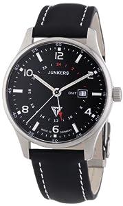 Junkers Watches Herren-Armbanduhr XL Analog Quarz Leder 6F48-2