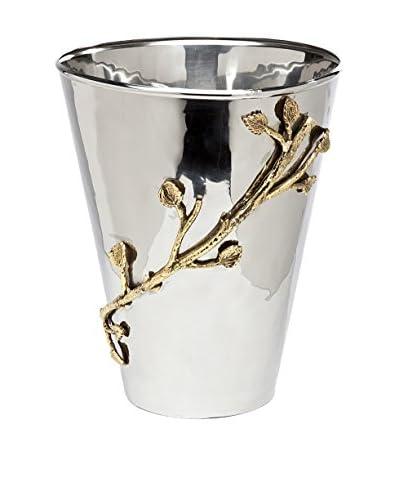 Godinger Medium 2-Tone Leaf Planter, Silver