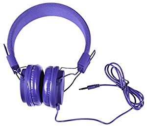Vivitar Dj Mixers Foldable Blue Headphones Compact and Limited Edition