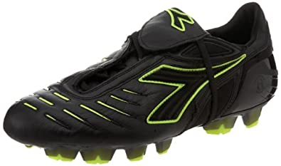 Diadora Men's Maracana RTX Soccer Shoe,Black/Fluorescent Yellow,6.5 M US