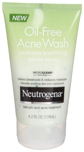 Neutrogena Oil-Free Acne Wash Redness Soothing Gentle Scrub, 4.2 Ounce (Pack of 3)