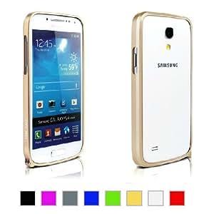 Mulbess Samsung Galaxy S4 Mini I9190 UltraSlim 0.7mm Blade Aluminium Premium Bumper Hülle Case Farbe Gold