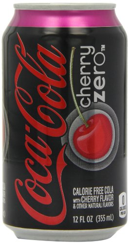 Coca Cola Cherry Zero 355 ml (Pack of 12)