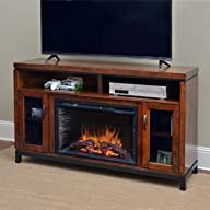 Comfort Smart Harper Infrared Electric Fireplace Entertainment Center in Birch – CS-26MM-BIR