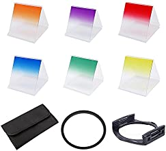 Phot- RGraduated Colour Filter Set 6 Piece Filter Kit With Filter Holder Adapter Ring And Pouch 52mm