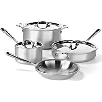 7-Piece All-Clad 700393 Stainless Steel Tri-Ply Bonded Cookware Set