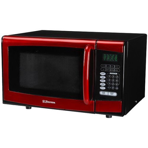 Emerson 900-Watt Microwave Oven - Red | Cheap Best Toaster Oven